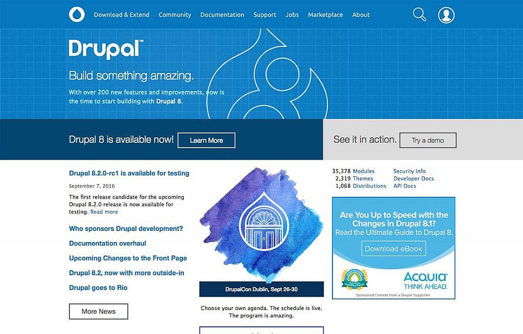 drupal page - هاست پربازدید ( منابع بسیار قوی )