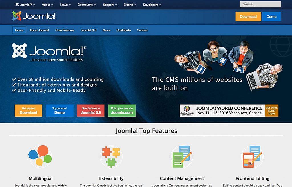 joomla page - سرور اختصاصی