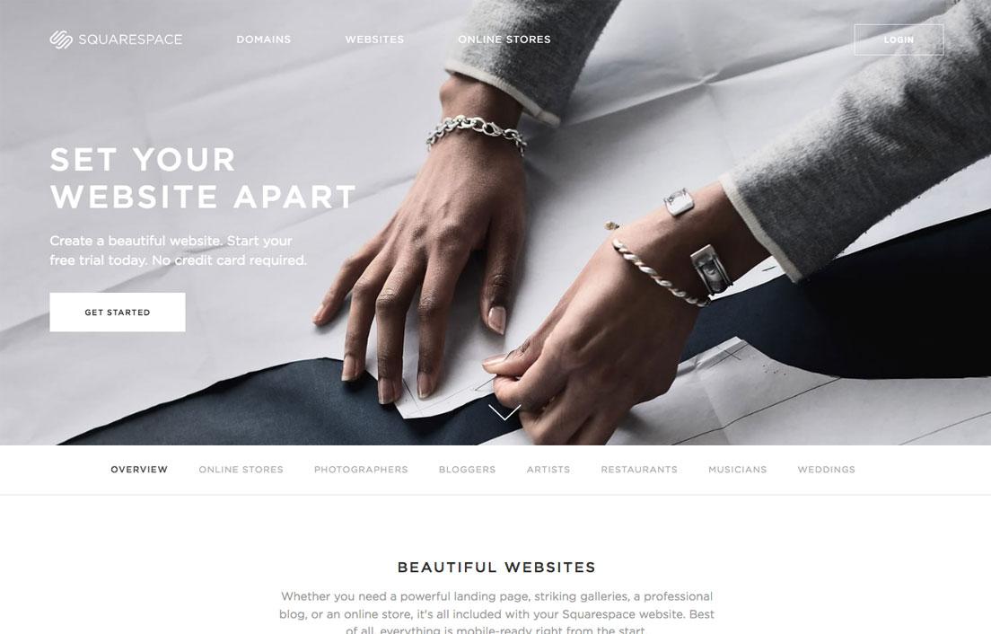squarespace page - هاست دانلود