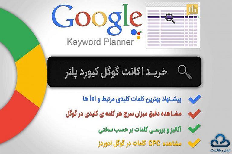 google keywoard planner - خرید اکانت گوگل کیورد پلنر